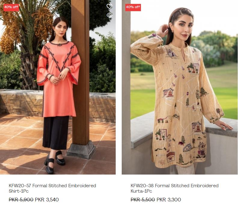 Nishat Linen Summer Discount 40% Off