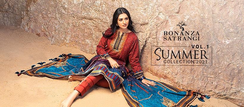 Bonanza Satrangi vol-1 summer collection 2021