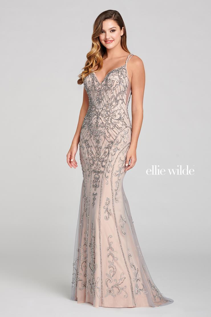Ellie Wilde Platinium color prom dress