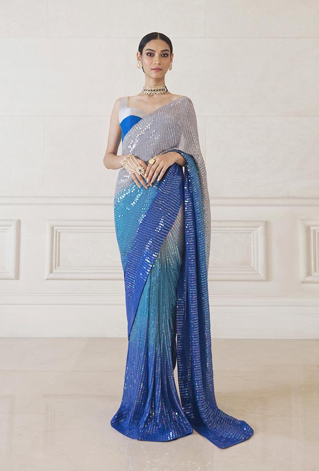 Manish Malhotra Light Blue Dress