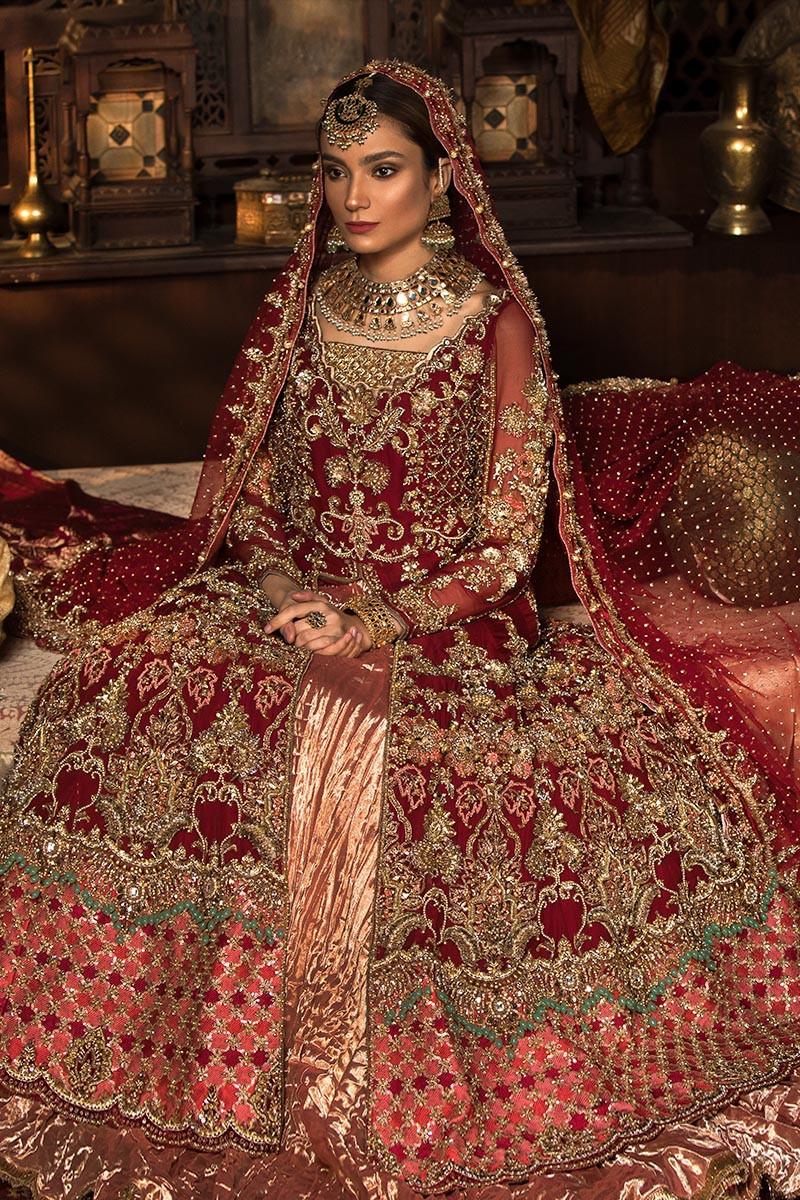 Maria B Red color bridal dresses 2021