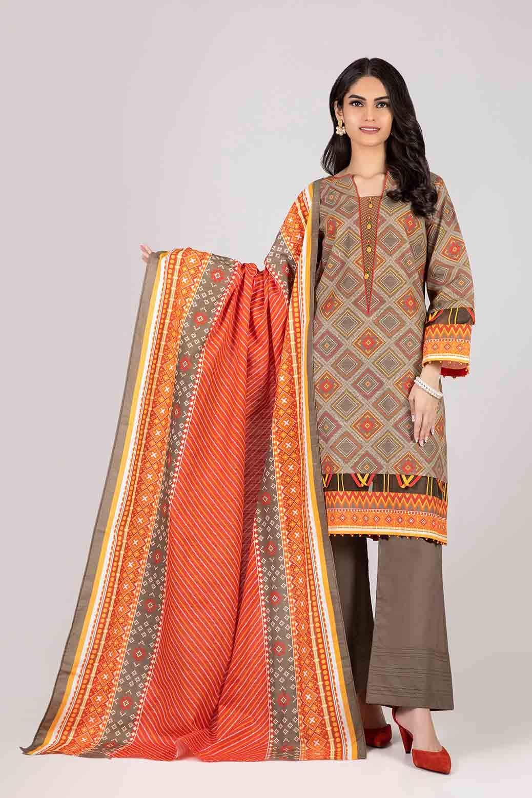 Bonanza Satrangi Ready to wear brown color suit