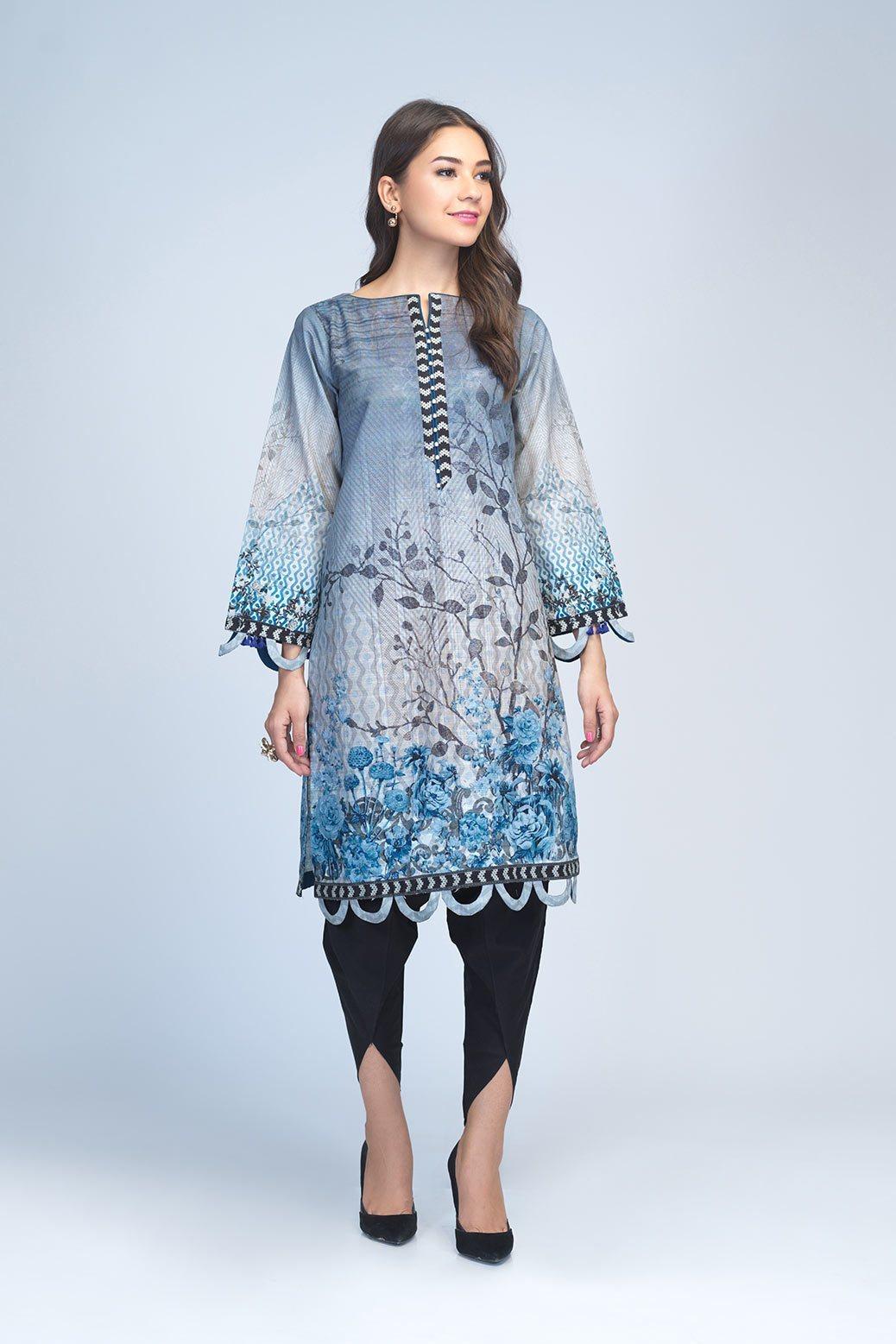 Bonanza Satrangi Unstitched winter Light Blue color dress