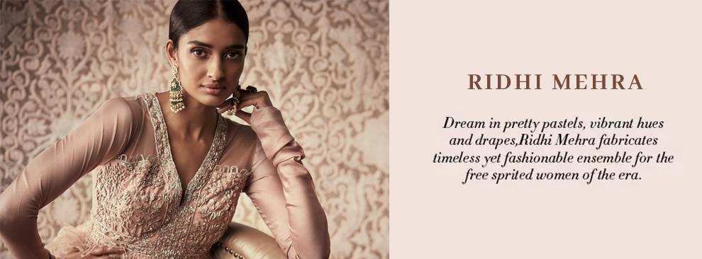 Indian Designer Ridhi Mehra dresses collection