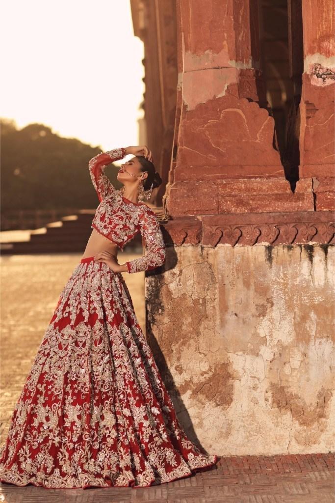 Erum Khan, 3 piece Lehnga Choli style dress