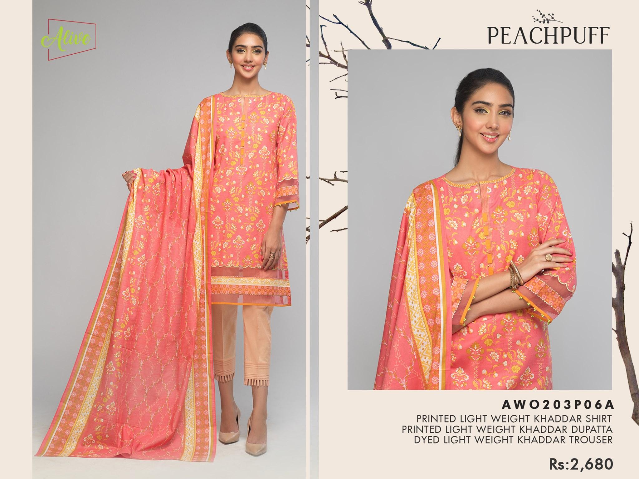 Bonanza Satrangi peach-puff Winter Dress 2021