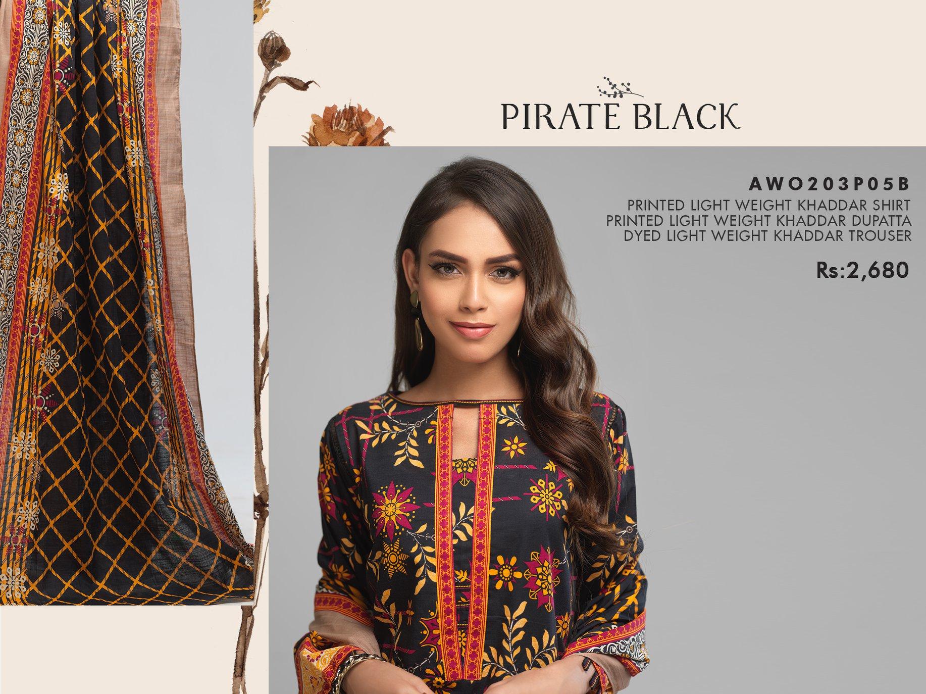 Bonanza Satrangi Pirate Black Winter Dress 2021