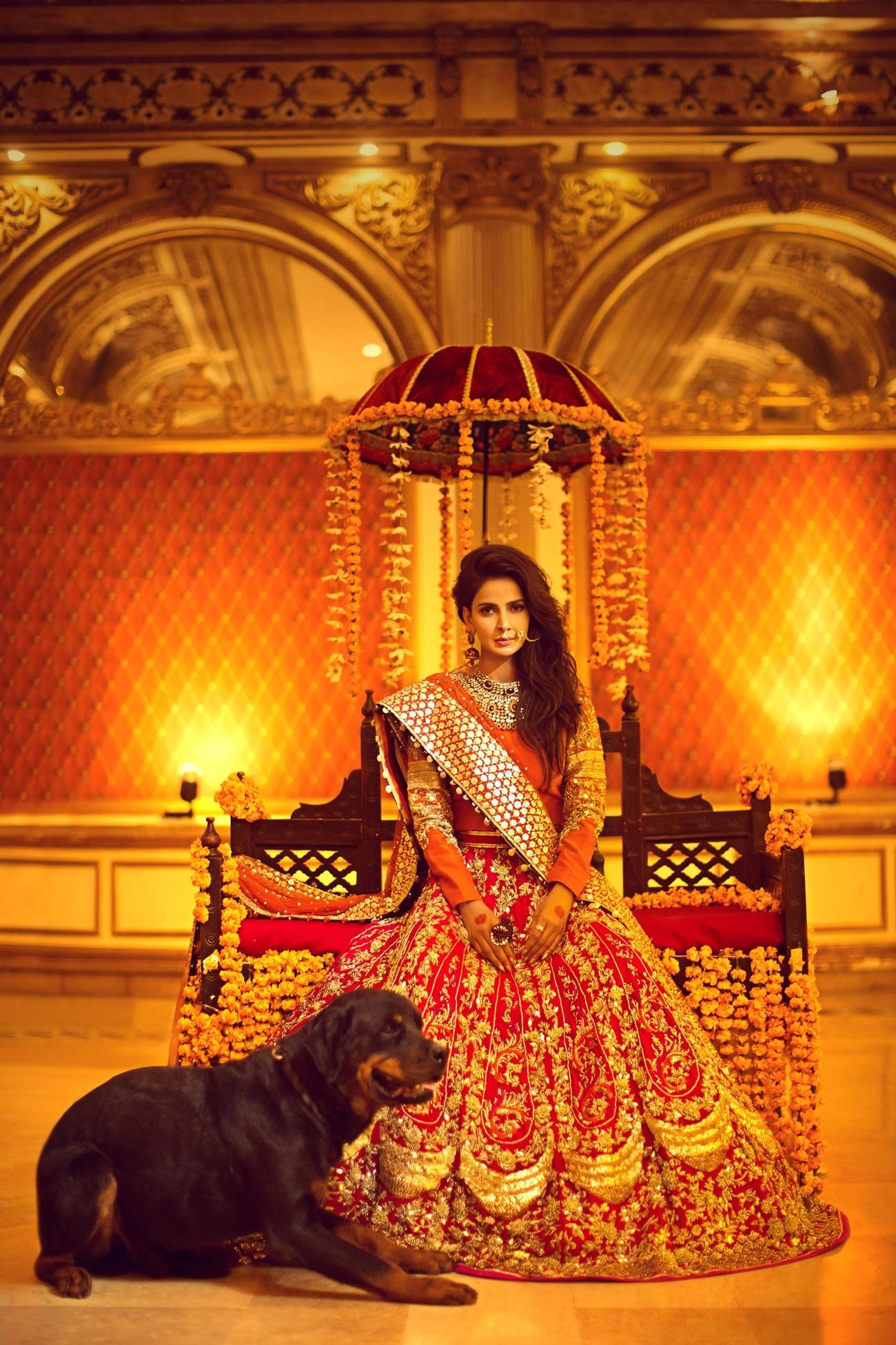 Erum Khan Nawabzadi Bridal Dress Lehnga & Choli Red color