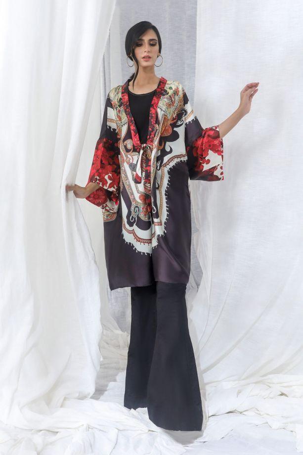 Sana Safinaz Kurnool winter blacked dress 2021
