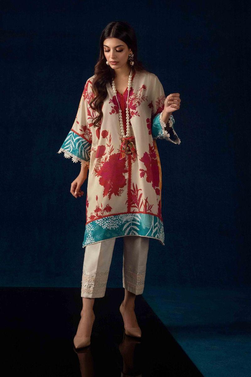 Sana Safinaz kurnool winter Beige color dress