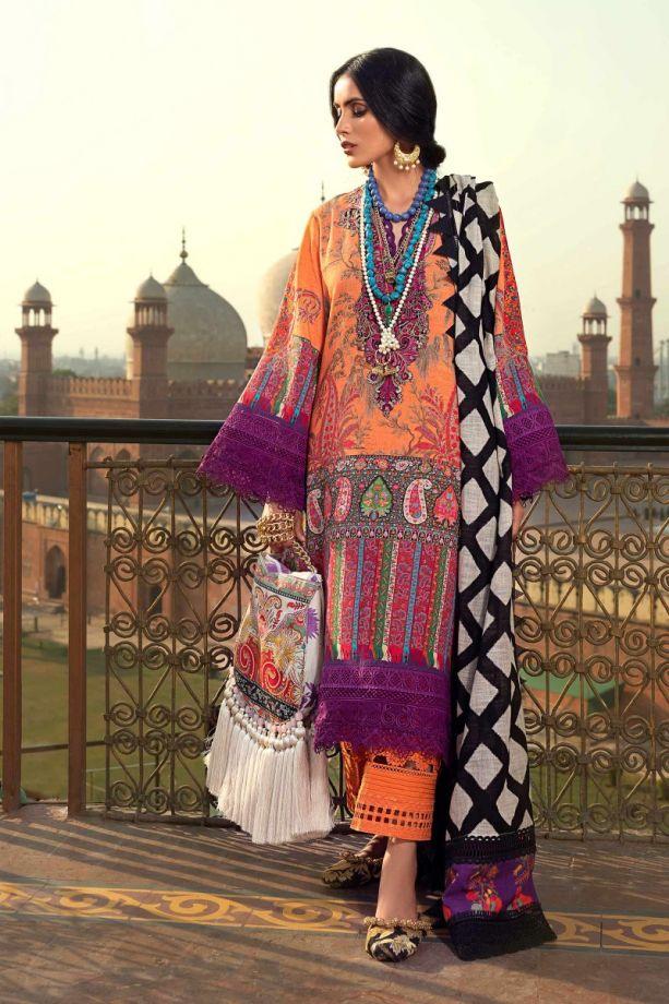 Sana Safinaz Winter Embroidered on organza dress 2021
