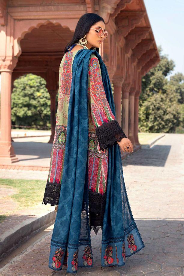 Sana Safinaz Winter Multi color embroidered dress 2021
