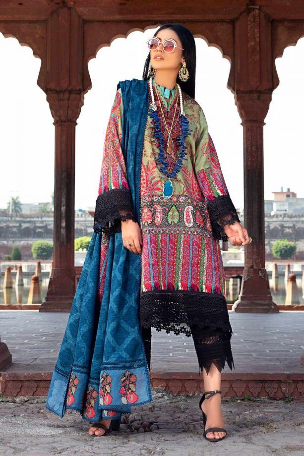Sana Safinaz Winter Multi color embroidered dress