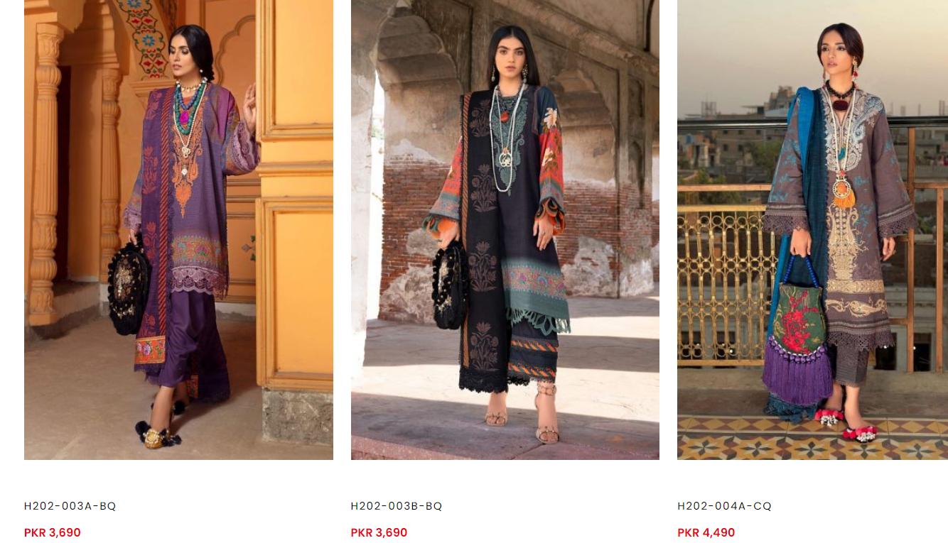 Sana Safinaz winter dresses collection i