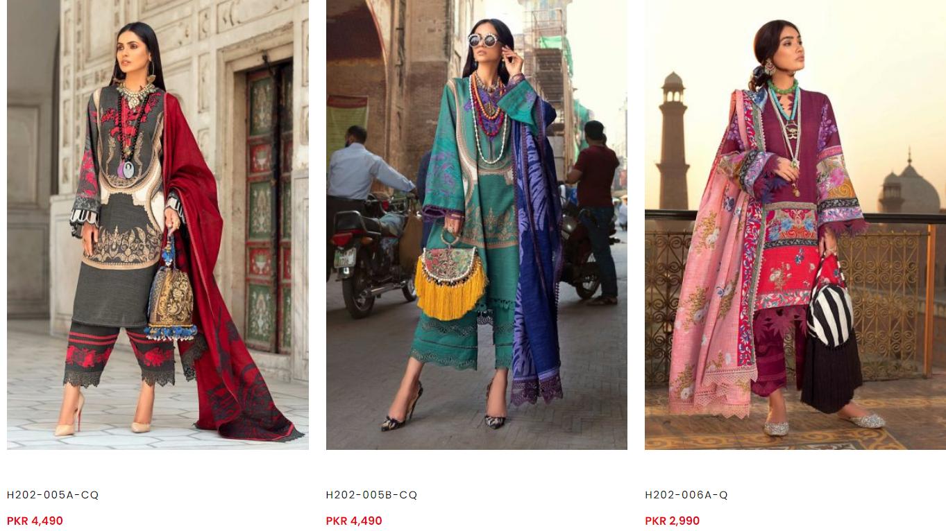 Sana Safinaz winter dresses collection ii