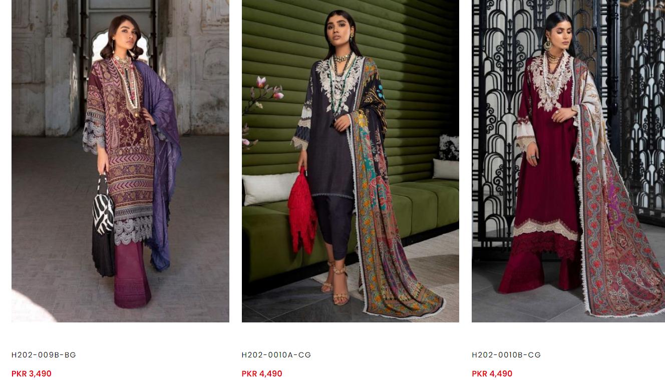 Sana Safinaz winter dresses collection v