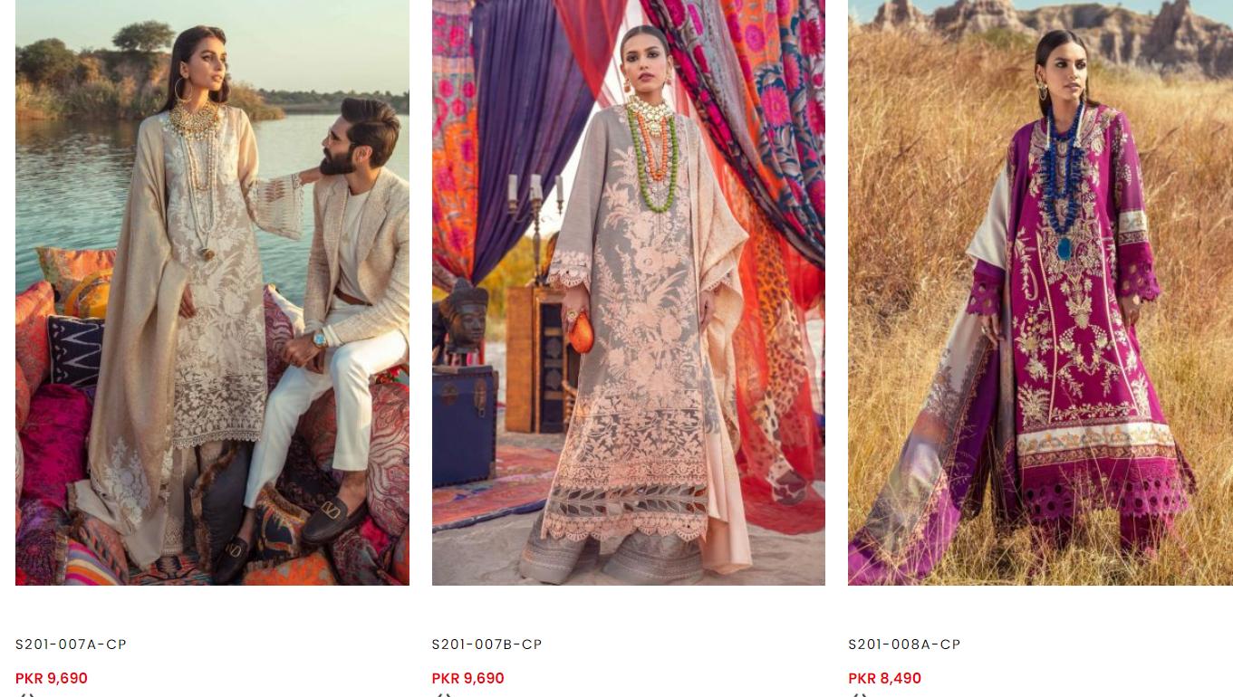 Sana Safinaz Shalwl dresses winter collection 3