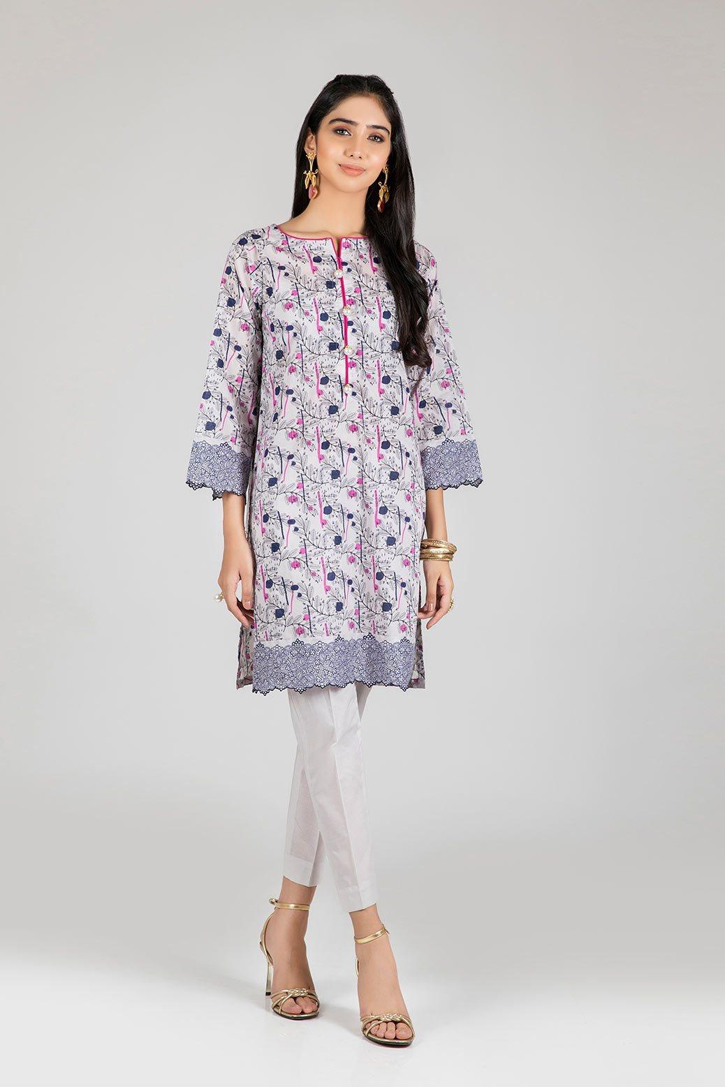 Bonanza Satrangi Two Piece Dress Beige color