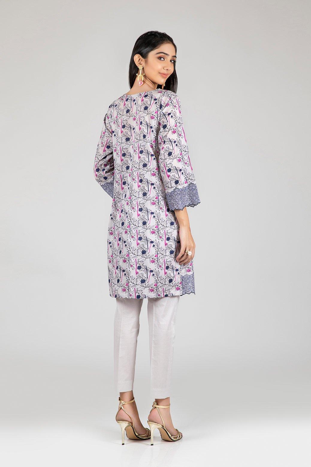 Bonanza Satrangi Two Piece Dress Beige color back-side