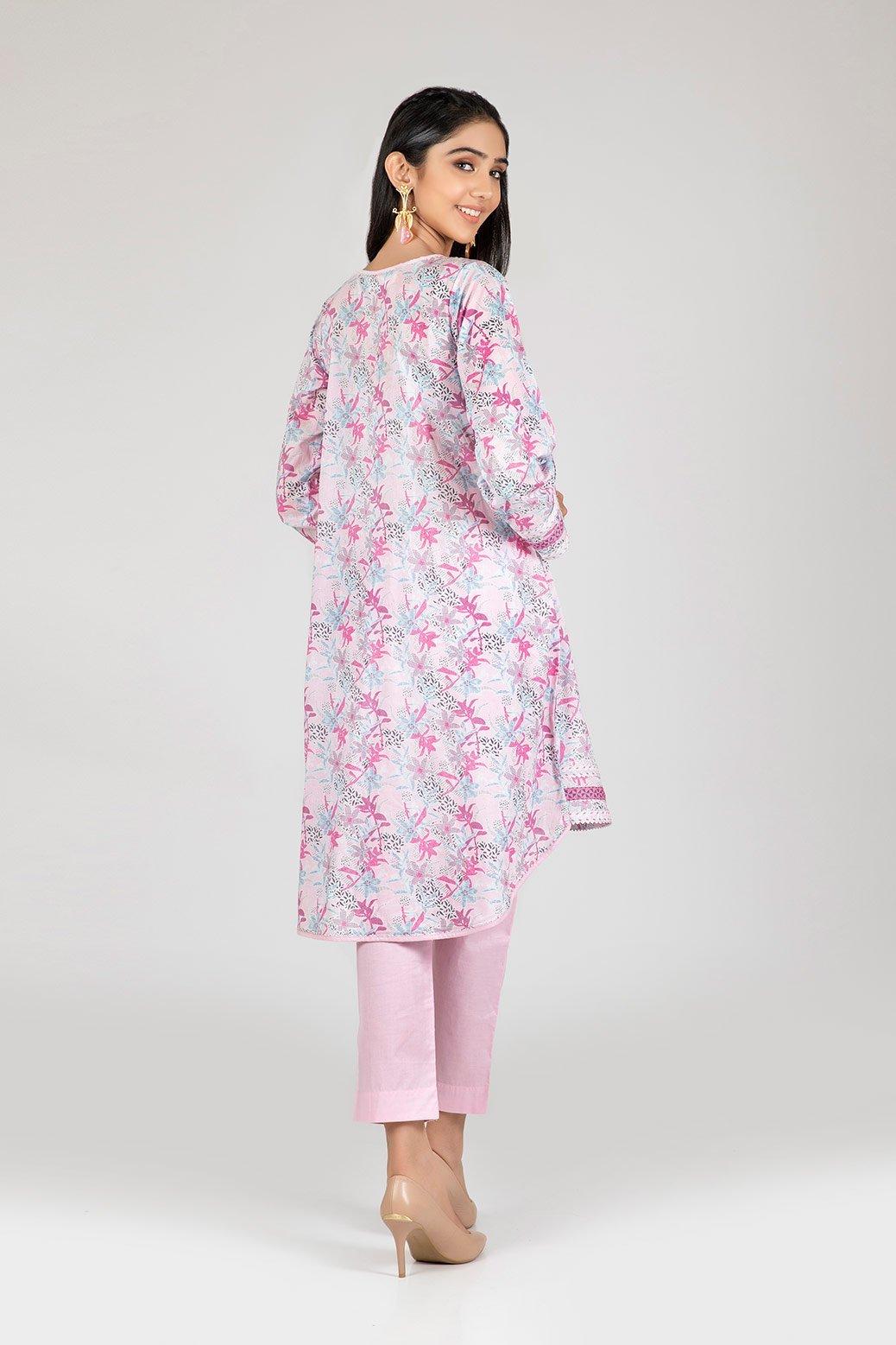 Bonanza Satrangi two piece dress Pink color back side
