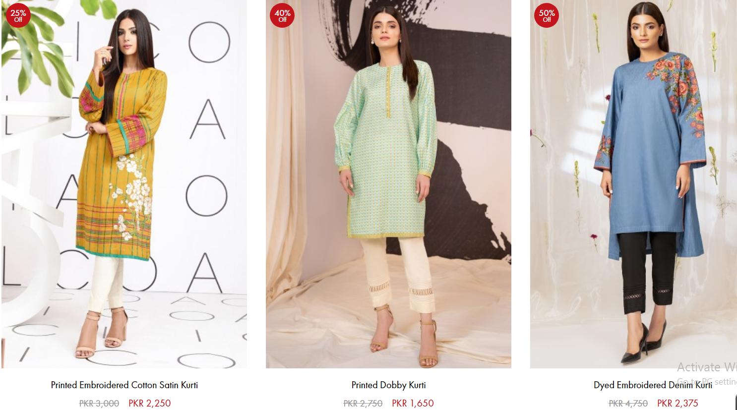 Al-Akaram Winter Casual And Formal Dresses designs Online Sale