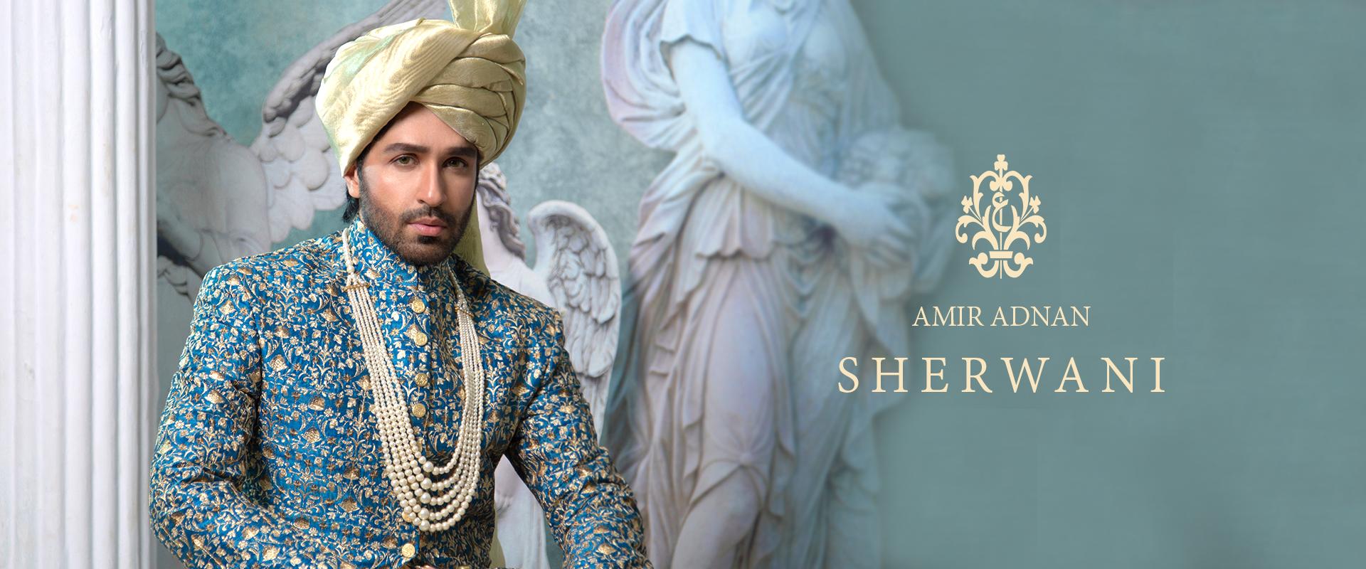 Amir Adnan Sherwani Collection 2021