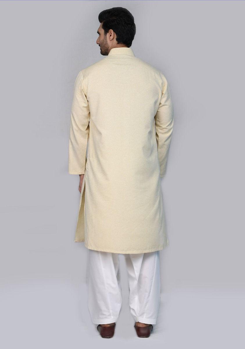 Amir Adnan Cream color kurta Back-side