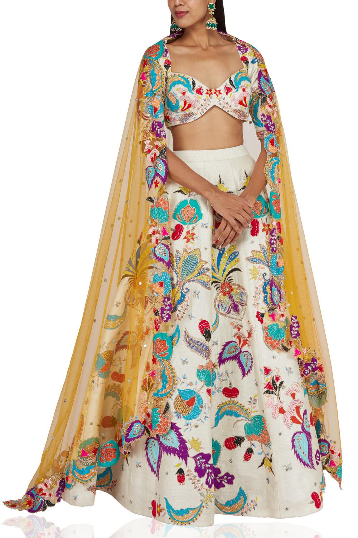 Aisha Rao Lvory embellished lehenga