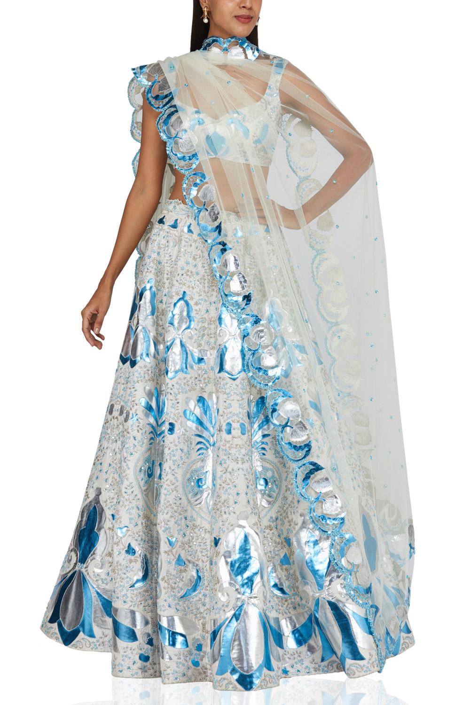 Aihsa Rao Ivory embroidered lehenga set