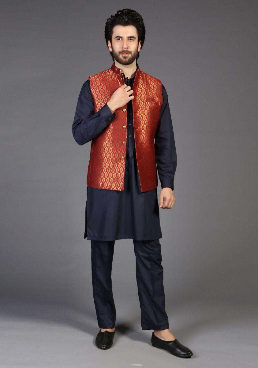 Amir Adnan Red classic Waistcoat 2021