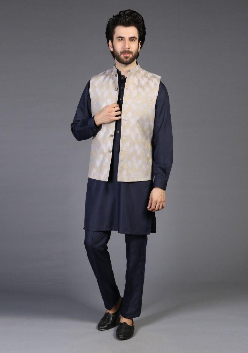 Amir Adan Icelandic Blue Color Waistcoat 2021