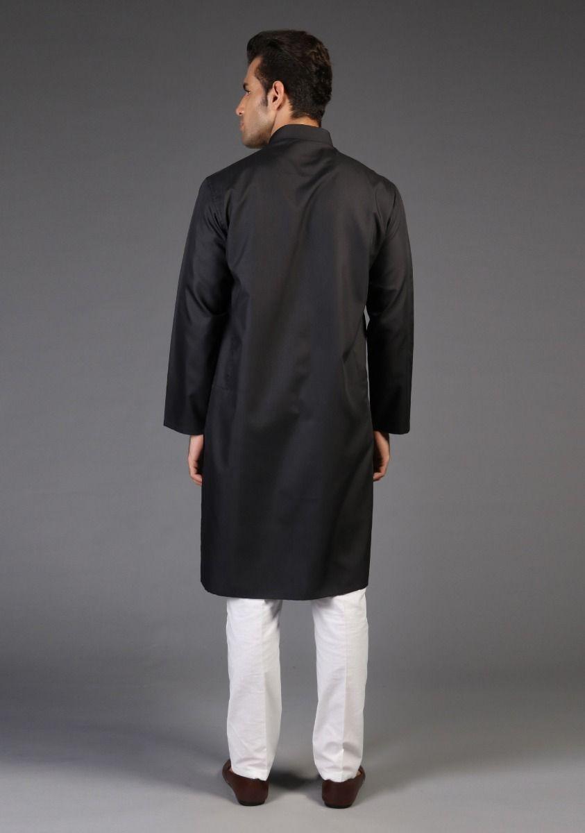 Amir Adnan Black kurta Back-side