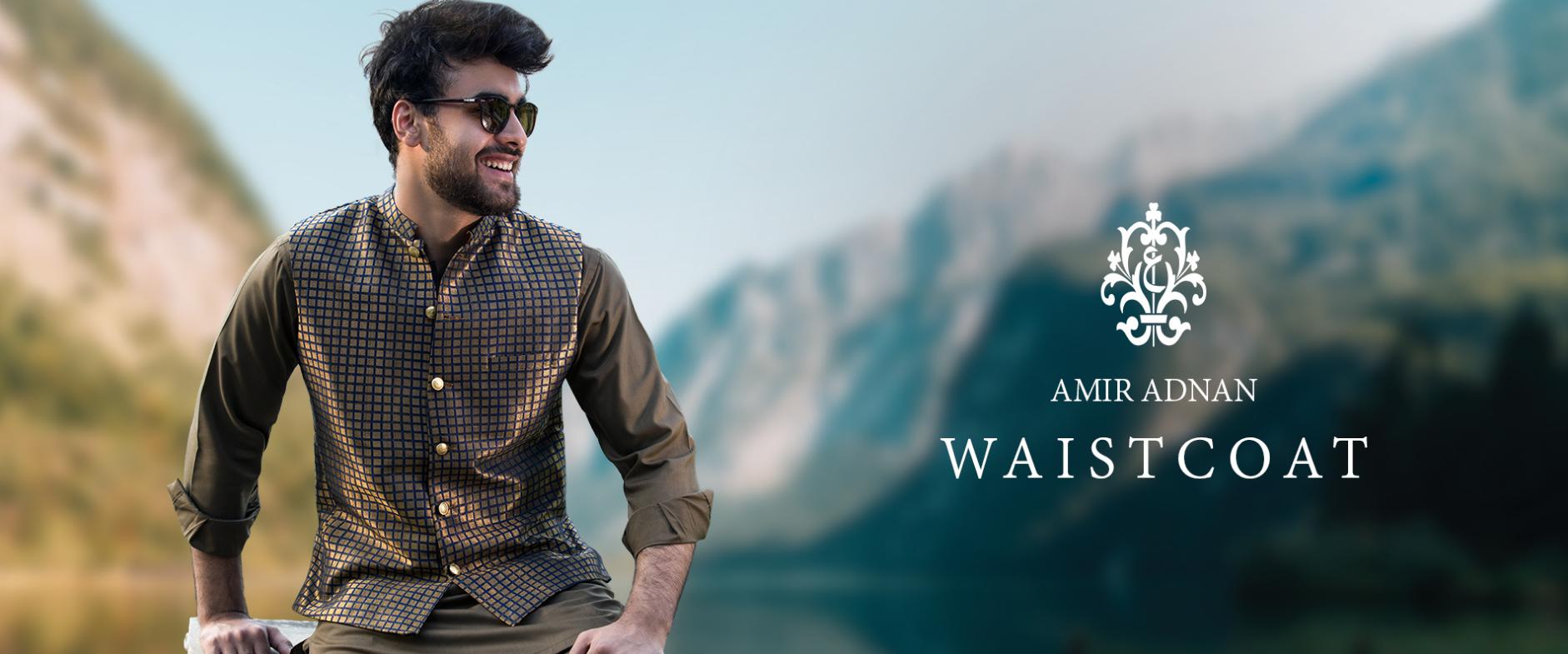 Amir Adnan Men WaistCoats Dresses collection 2021