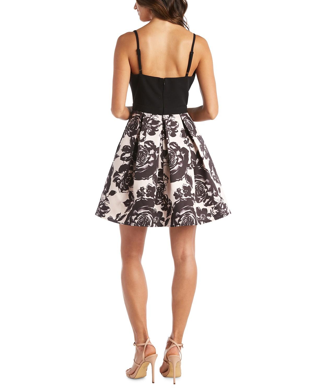 Macy's juniors floral fit dress back side