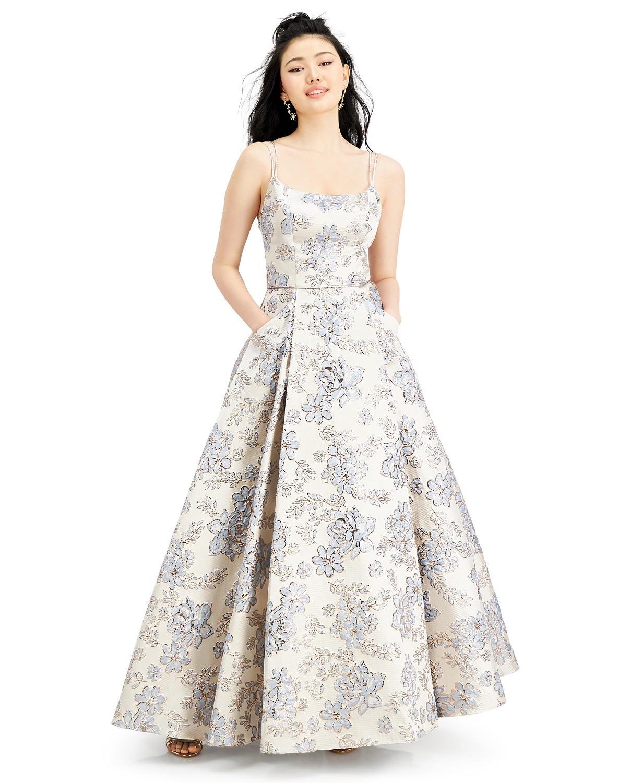 Macy's Brocade Ball Gown dress
