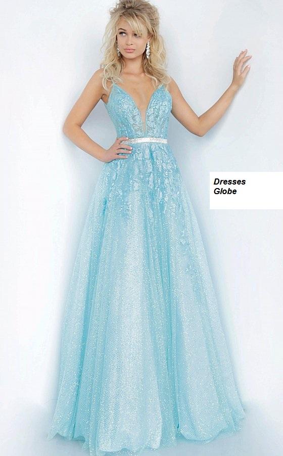 Ice blue prom dress ballgown