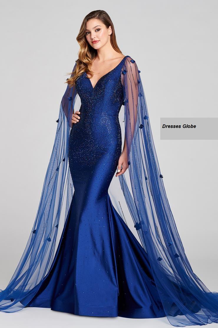 Navy Blue prom dress Sleeveless