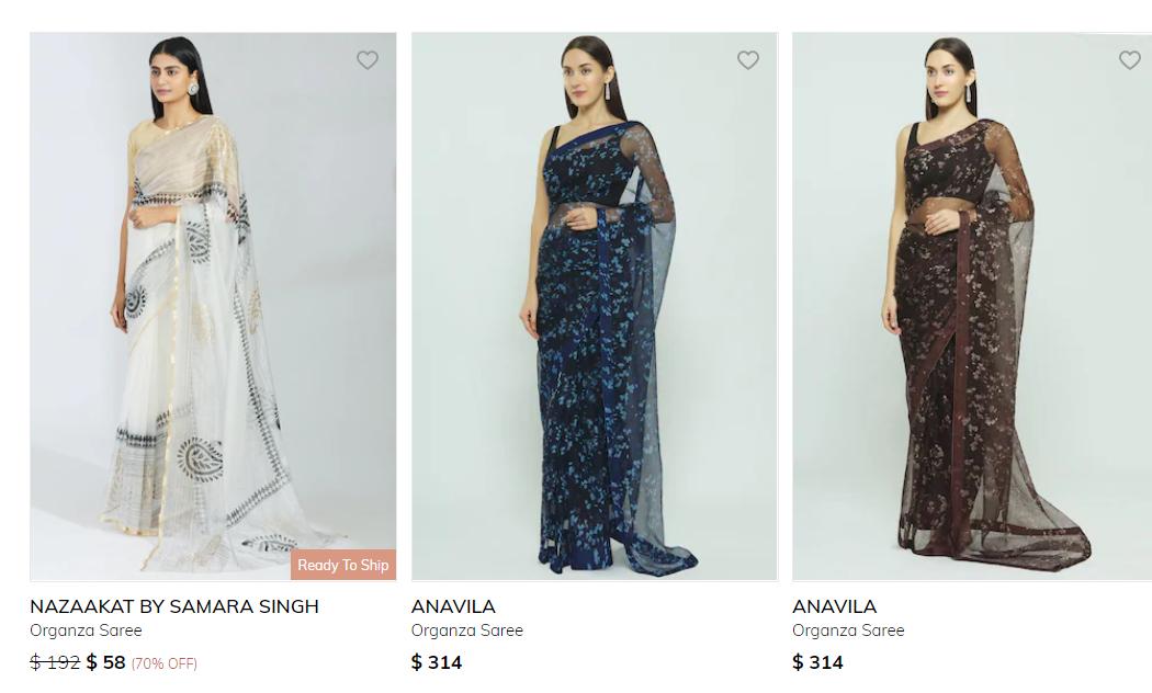 Organza Saree Collection 3