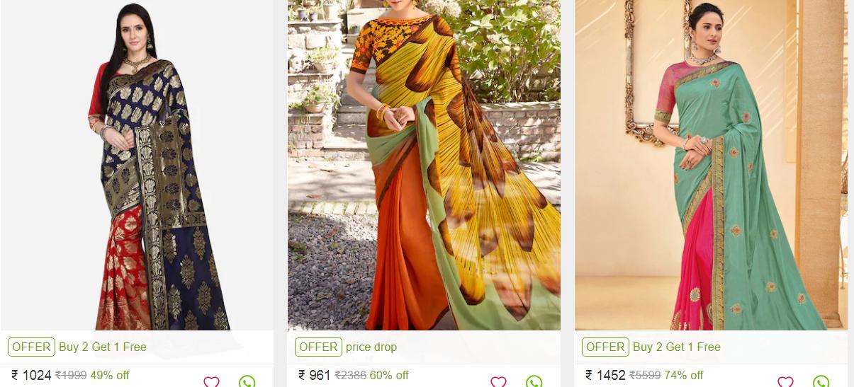 Indian Half saree collection, 2