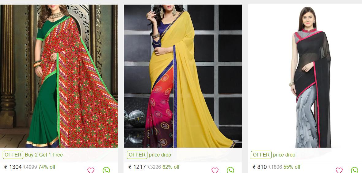 Indian Half saree collection, 3