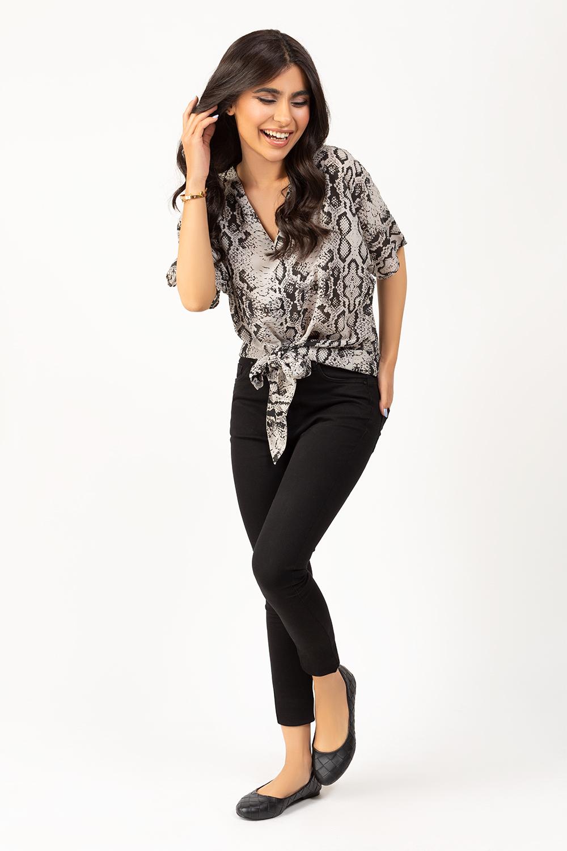 Sacreen printed black pant shirt by gul ahmed